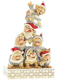 Extreme popularity! Figure skating of dwarf ornament figure skating Snow White of seven Disney tradition series Precarious Pyramid (Seven Dwarfs Figurine) Snow White's seven dwarfs precious pyramids and seven dwarfs