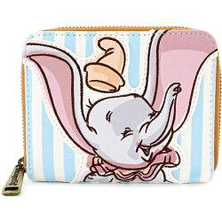 ディズニーDisneyダンボ財布DumboStripedCircusFauxLeatherWalletラウンドチャック2つ折りウオレットカードケースおさいふloungeflyラウンジフライ