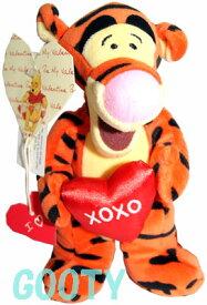 くまのプーさん ティガーWinnie the Pooh TiggerTigger Hearts Tailバレンタインティガー XOXOロンドン ディズニーストアビーンバッグ 縫いぐるみ
