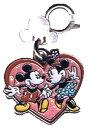 ミッキーマウス&ミニーマウス七宝チャームdisney mickey minnie