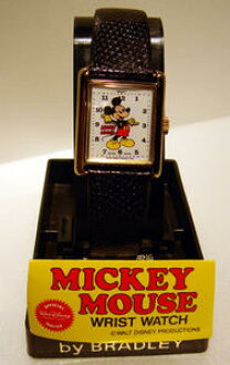BRADLEY rolling by hand watch Cal Che type mickey mouse disney