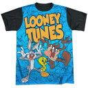 ルーニートゥーンズ(ルーニー テューンズ) LOONEY TUNESバグズバニー(バッグス バニー) トゥイーティー タズ半袖Tシャツ ユニセ…