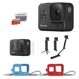 GoPro HERO8 Black + 3-Way + プロテクトスクリーン + スリーブ ランヤード 2セット + 認定SDカード 【国内正規品】