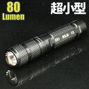 【超小型8cm】 LEDハンディライト 80lm 単4電池1本 長さ約8cmの超小型ライト ペンライト アウトドア キャンプ 防災 通…