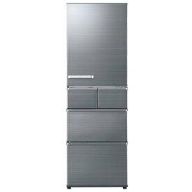 限定特価!AQUA アクア 5ドア冷凍冷蔵庫 AQR-SV42H-S 右開き 415L チタニウムシルバー【展示品】【送料無料(※北海道・九州・沖縄・離島別途)】【代引き不可】
