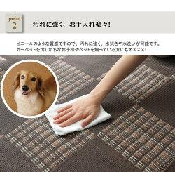 洗えるPPカーペット『ウィード』