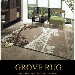 GROVEラグ140×200(ラグラグマットカーペットじゅうたんホットカーペット対応)送料込み