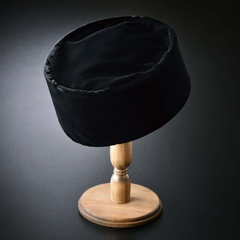 ベロア利休帽 黒