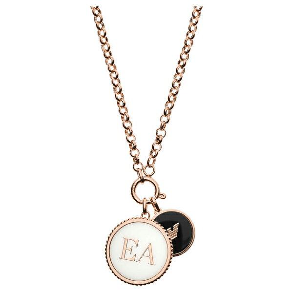 クーポンで1,000円OFF! エンポリオアルマーニ necklace EGS2585221 ゴールド×ホワイト×ブラック ジュエリー EMPORIO ARMANI ネックレス ユニセックス
