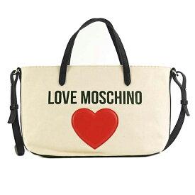 ラブモスキーノ JC4137 MOSCHINO&HEART トート WT 10A トートバッグ マザーズバッグ ママバッグ 2way 出産お祝い レディース