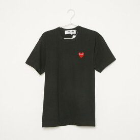 COMME des GARCONS Tシャツ PLAY LOGO RED HEART S/S TEE AZ-T108-051 メンズ BLACK 1 コムデギャルソン