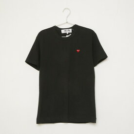 COMME des GARCONS Tシャツ PLAY LOGO RED HEART S/S TEE AZ-T200-051 メンズ BLACK 1 コムデギャルソン