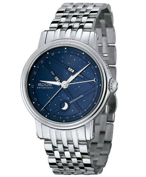 エポス ナイトスカイ 3391BLM 腕時計 メンズ 自動巻 epos EMOTION メタルブレス