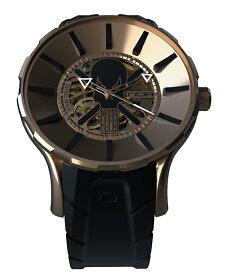ワケあり アウトレット 55%OFF! ノア ゴースト GPGST001 自動巻き 腕時計 メンズ NOA GHOST ※入荷時期によってストラップはラバーまたはレザーとなります。 スケルトン ゴールド