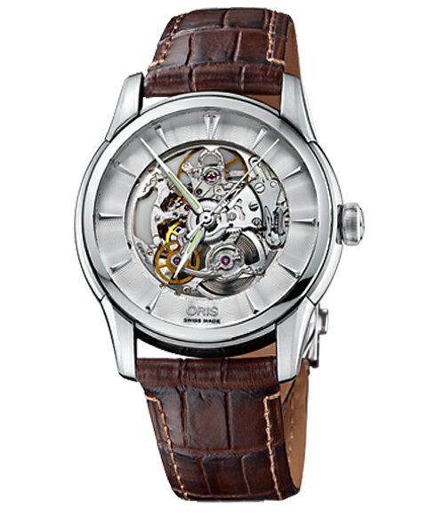 アウトレット 半額 オリス アートリエ スケルトン 73476704051D 腕時計 メンズ 自動巻き ORIS Artelier Skeleton 734 7670 4051D レザーストラップ