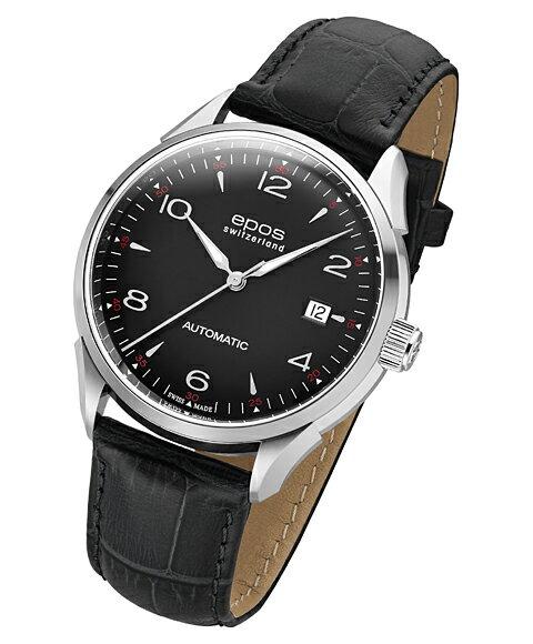 アウトレット 半額 エポス オリジナーレ デイト 3427ABK 腕時計 メンズ 自動巻 epos