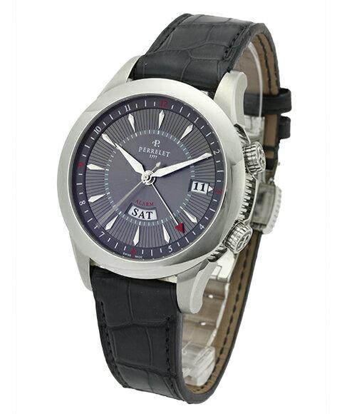 アウトレット PERRELETペルレ メンズ腕時計 A1011-2自動巻き アラーム機能 OUTLET