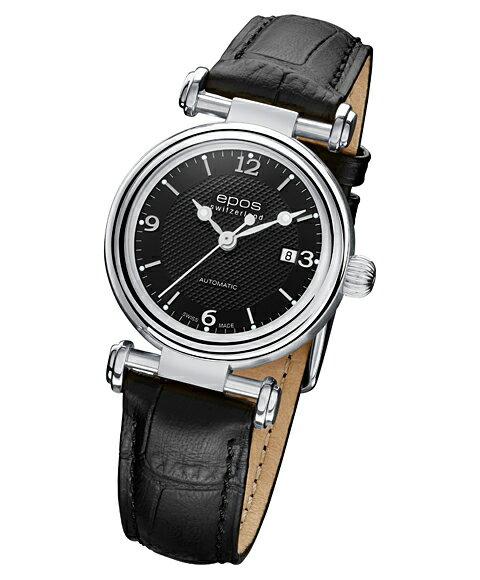 エポス オリジナーレ デイト レディース 4430BK 腕時計 自動巻 epos
