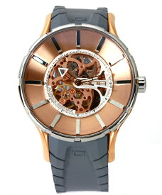 ワケあり アウトレット 55%OFF! ノア 16.75 SKLTT001 自動巻き 腕時計 メンズ NOA 自動巻 スケルトン ゴールド ※入荷時期によってストラップはラバーまたはレザーとなります。