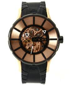 ワケあり アウトレット 55%OFF! ノア 16.75 SKLTT002 自動巻き 腕時計 メンズ NOA 自動巻 スケルトン ゴールド ※入荷時期によってストラップはラバーまたはレザーとなります。