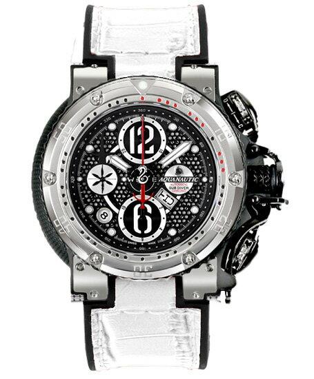 アクアノウティック キングクーダ クロノグラフ KRP02NGRNAJ03 腕時計 メンズフ 白ベルト AQUANAUTIC King Cuda CHRONOGRAPH