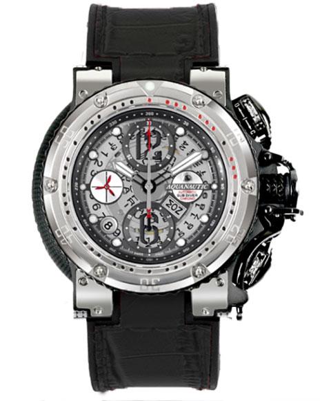 AQUANAUTIC アクアノウティック 腕時計 ハーフスケルトン KRP02SKNAJ02 KING CHRONOGRAPH Half Skeleton