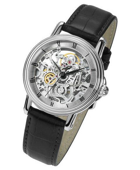 エポス エモーション クラシックスケルトン 3336SKRSL 腕時計 メンズ 自動巻 epos Emotion Classic Skeleton スケルトン レザーストラップ