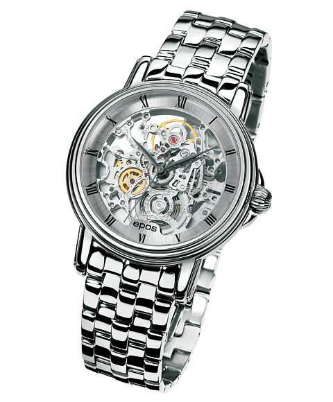 エポス エモーション クラシックスケルトン 3336SKRSLM 腕時計 メンズ 自動巻 epos Emotion Classic Skeleton クロノグラフ スケルトン メタルブレス