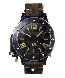 アウトレット 55%OFF ユーボート U-42 UNICUM 8088 腕時計 メンズ U-BOAT 自動巻 レザーストラップ ブラウン系