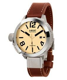 ユーボート クラシコ 50 タングステン AS2 8091 腕時計 メンズ U-BOAT CLASSICO 50 TUNGSTENO AS 2 自動巻 レザーストラップ ブラウン系
