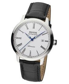 エポス オリジナーレ デイト 3432RWH 腕時計 メンズ 自動巻 epos Originale クロノグラフ レザーストラップ