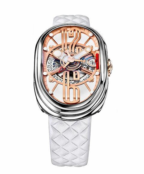 グリモルディ G.T.O. SSSHWH612PK 腕時計 メンズ GRIMOLDI Gran Tipo Ovale 自動巻 レザーストラップ