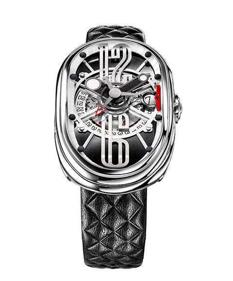 グリモルディ G.T.O. SSSHBK612ST 腕時計 メンズ GRIMOLDI Gran Tipo Ovale 自動巻 レザーストラップ