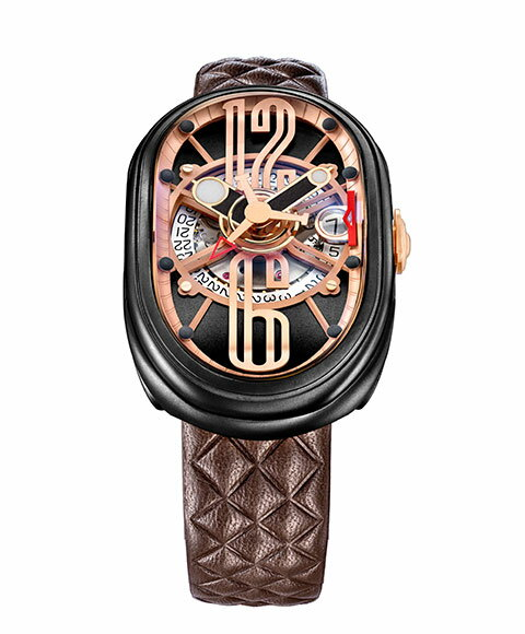 グリモルディ G.T.O. BKMTBK612PK 腕時計 メンズ GRIMOLDI Gran Tipo Ovale 自動巻 レザーストラップ