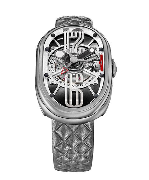 グリモルディ G.T.O. SSMTBK612ST 腕時計 メンズ GRIMOLDI Gran Tipo Ovale 自動巻 レザーストラップ