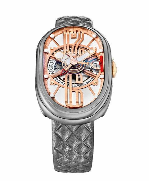 グリモルディ G.T.O. SSMTWH612PK 腕時計 メンズ GRIMOLDI Gran Tipo Ovale 自動巻 レザーストラップ