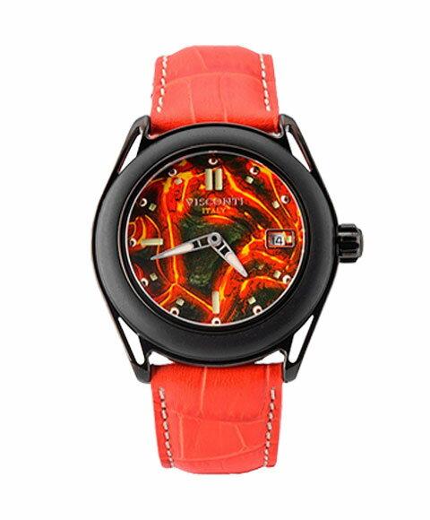 ヴィスコンティ ラヴァ エモーションレッド KW13-01 腕時計 自動巻 メンズ ビスコンティ VISCONTI LAVA EMOTION RED レザーストラップ