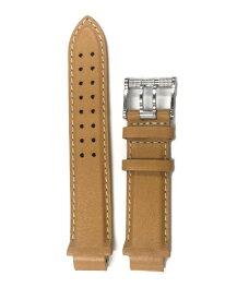即納可能! アクアノウティック 純正 バラクーダ用 レザーベルト BCSS-C キャメル/シルバー尾錠 腕時計用 革ベルト カーフベルト AQUANAUTIC