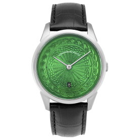 シャウボーグ ウニカトリウム MARLEMATIC-GR グリーンダイヤル 腕時計 メンズ SCHAUMBURG Unikatorium Hand Made Marlematic 自動巻 レザーストラップ グリーン系