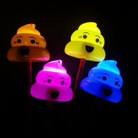 【光るおもちゃ】光る棒つきうんちくん 12個入【景品 子供 おもちゃ 子供会 幼稚園 保育園 子供会 景品玩具 イベント】