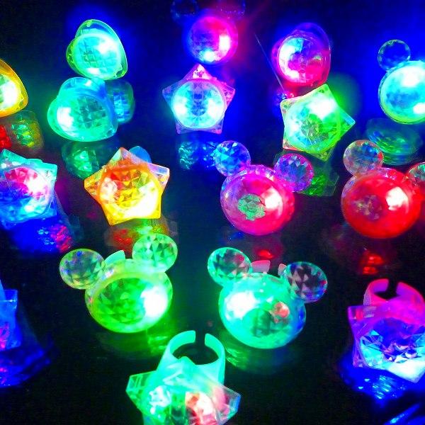 【光るおもちゃ/光り物玩具】☆★光るダイヤモンドゆびわ★☆光る 指輪 光る指輪 光るおもちゃ 縁日 お祭り 夏祭り 景品 コンサート ライブ 光る クリスマス