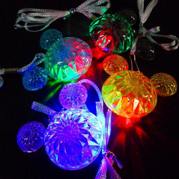 【光るおもちゃ/光り物玩具】光るマウスペンダント【ご注文単位は必ず36個単位でお願いします。】光るおもちゃ 縁日 お祭り 夏祭り おもちゃ 景品