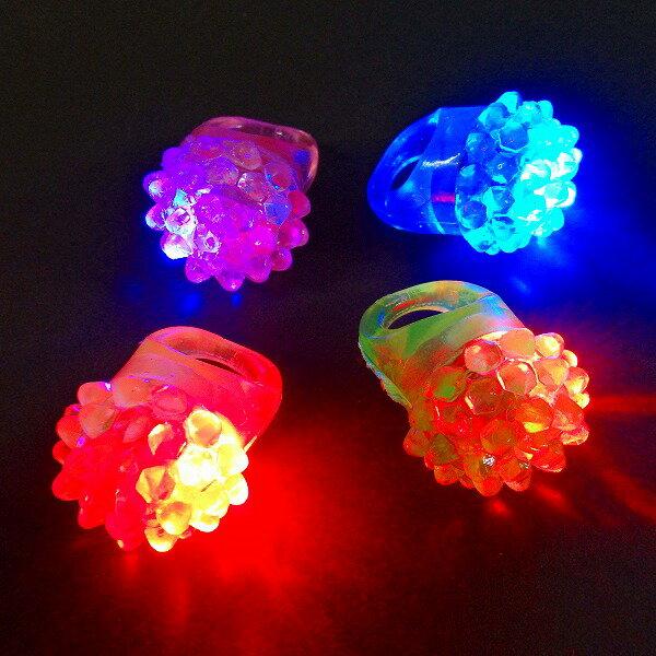【光るおもちゃ/光り物玩具】☆★光るフルーツ指輪36入★☆光る 指輪 光る指輪 光るおもちゃ 縁日 お祭り 夏祭り 景品 コンサート ライブ 光る