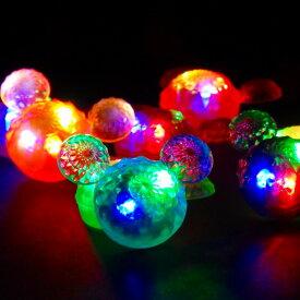 【光るすくい】ピカピカジュエルマウス48個入り【光るすくい 光る すくい 縁日 景品 縁日すくい スーパーボール スーパーボールすくい すくい用品 縁日 お祭り お風呂 浮く】