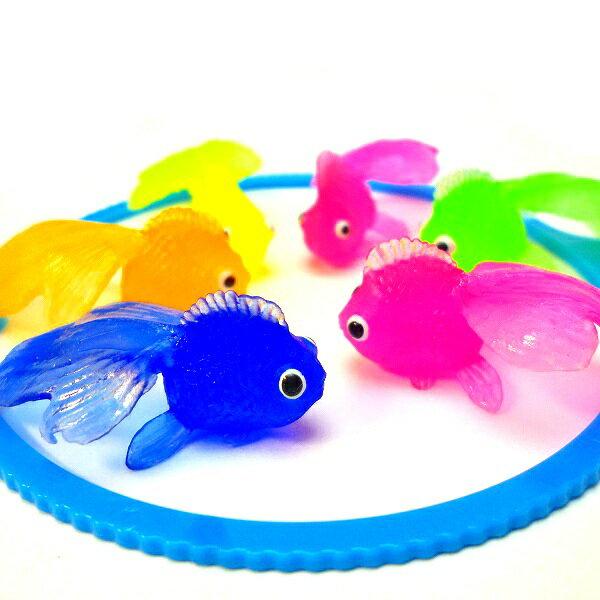やわらかミニきんぎょ100個入り【縁日すくい 縁日 景品 お祭り 夏祭り 金魚すくい 水に浮く おもちゃ 玩具 スーパーボール スーパーボールすくい】