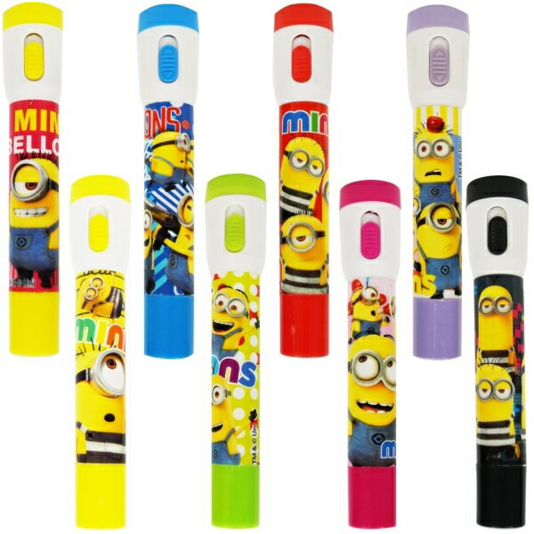 ミニオンズ カラフル ペンライトボールペン 24個入【光るおもちゃ 光り物玩具 景品 子供 子ども会 文具 文房具】