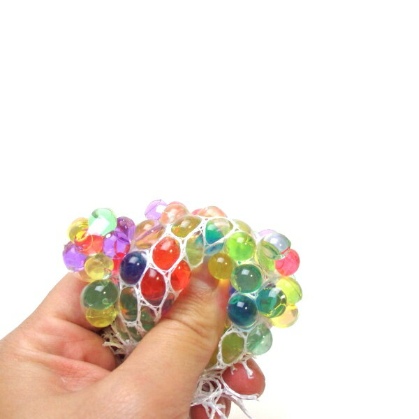 にぎってつぶつぶレインボーボールSサイズ 24個入【景品 子供 子供会 縁日 お祭り 夏祭り イベント 売れ筋 ウォーターボール スクイーズ】