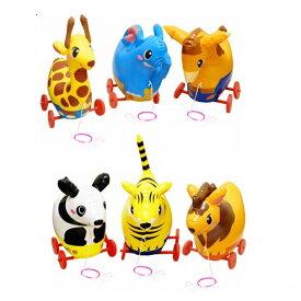 【ビニール玩具】おさんぽアニマルSY 6個セット【縁日 お祭り 夏祭り イベント 子ども会 子供会 景品 ノベルティ お祭り】