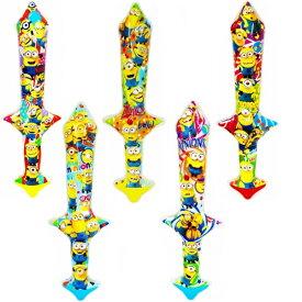 ミニオンズ エアーソード Sサイズ 24個入【ビニール玩具 空気ビニール おもちゃ 縁日 お祭り 夏祭り 景品 子供 子供会】