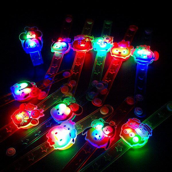 【光るおもちゃ】ディズニーかわいい光るダイカットブレスレットpart3☆ツムツム☆【ご注文単位は必ず12個単位でお願いします】 子供会 縁日 お祭り 夏祭り 玩具 おもちゃ イベント